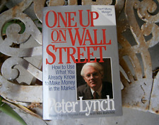 One Up On Wall Street Peter Lynch FREE SHIPPING Hardcover investing Stocks wall