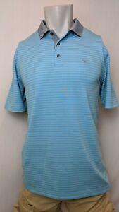 New Southern Shirt Performance Polo, Blue & Purple Stripes, L, XL