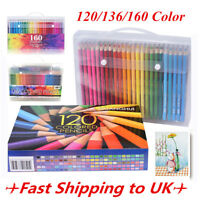 120/136/160 Colors Oil Art Pencils Drawing Sketching Set Artist Non-toxic