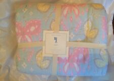 Pottery Barn Kids Zoey Twin Butterfly Quilt Spring Pastels Nwt
