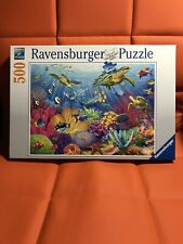 Jigsaw Puzzle 500 Pieces Ravensburger Tropical Waters No. 146611 Turtles Fish