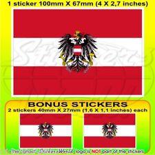 Autriche Etat Drapeau Autrichien Autriche Autocollant Sticker 100 mm x1+2 BONUS