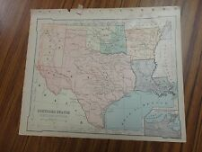 Nice color map of The Southern States/West.  Printed 1896 by American Book Co.