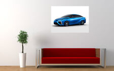 BLUE TOYOTA FCV CONCEPT NEW GIANT LARGE ART PRINT POSTER PICTURE WALL