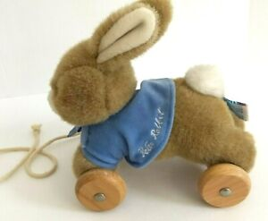 "Vintage Eden 8"" Peter Rabbit Pull Toy by Beatrix Potter Collection w Tag"