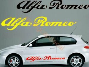 Alfa Romeo script large side door Decal Sticker 155 147 156 159 mito giulietta