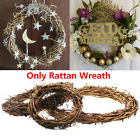 Christmas Natural Dried Rattan Wreath Garland Home Door Wall DIY Party Decor New