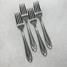 New listing Hampton Silversmith stainless flatware stainless Lace Frosted Set 4 Salad Forks