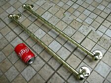 Salvage Vintage in Brass Beautiful Two Toilet Towel Rack Genuine Old Hardware