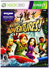 Kinect Adventures! XBOX 360 Case & Disc Jump Obstacles Dodge Balls Video Game