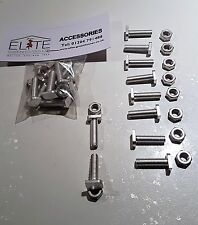10 Elite Greenhouse Aluminium 22mm long Cropped Head bolts & nuts - Rust Free