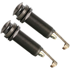 """2pcs Stereo End Pin Jack 1/4"""" for Guitar or Bass black guitar parts"""