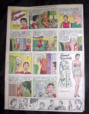 VTG STAR WEEKLY TORONTO CANADA COMIC STRIP PAPER DOLL - JANE ARDEN JULY 14, 1956