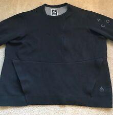 Nike NikeLab ACG Tech Fleece Crew Sweatshirt  Sz XL BLACK