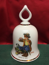 Wonderful World of Norman Rockwell Collectible Bell Friend In Need 1979