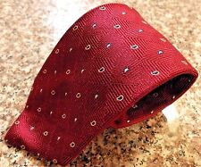 THOMAS Pink TIE Necktie RED Mens PURE Silk LONDON England HANDMADE Teardrop CUBE