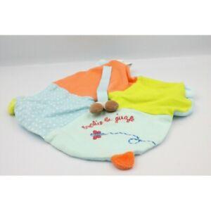 Doudou Plat Sophie la Girafe bleu orange vert VULLI - Vache - Girafe Plat / Semi