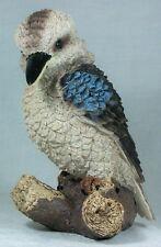 1 x Kookaburra on a Tree Stump Figurine 23cm Poly Resin KOOKA9 9319844334860 NEW