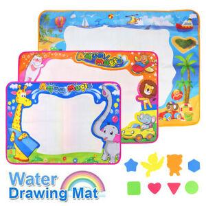 Kids Aqua Doodle Water Painting Drawing Mat Large Writing Board Magic Pen Toy UK