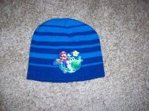 Nintendo Mario Brothers winter ski hat Boys 4-16