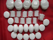 20pcs Large Ceramic Beads in Nuggets Barrel Smarties Square Shape Mix Sizes
