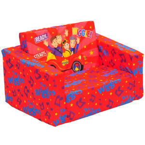 The Wiggles 60cm Flip Out Home Sofa/Couch/Chair Kids/Children Furniture Red