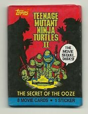 Teenage Mutant Ninja Turtles 2 Secret of the Ooze Trading Cards (Topps) Wax Pack