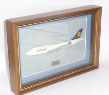 More details for boeing 747-400 lufthansa wood framed half display model 24 cm's