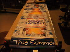 """ True Summer"" Bud Light & Budweiser Hanging 2 sided Banner dated 2001"