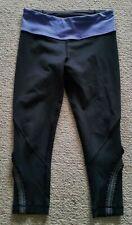 adb64c24bd Lululemon 3/4 length gym yoga dance work out pants black size 4 / 8