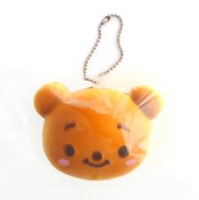 DISNEY Tsum Tsum Winnie the Pooh Bear Bun Cute RARE Kawaii Squishy Toy Keychain