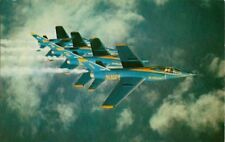 Vintage Airplane Postcard - The Blue Angels In Formation