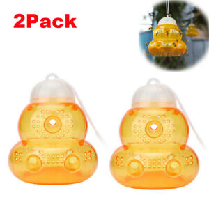 2Pcs Reusable Wasp Trap 6 Tunnel Insect Hornets Bees Killer Jackets Catcher Pots