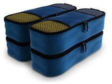 Shacke Pak - 4 Set Slim Packing Cubes - Travel Organizers (Gentleman's Blue)