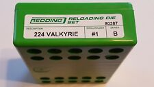80387 REDDING 224 VALKYRIE FULL LENGTH 2-DIE SET - BRAND NEW - FREE SHIPPING