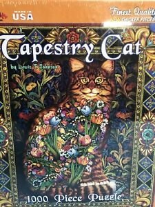 White Mountain Puzzles TAPESTRY CAT 1000 Pieces SEALED Ages 12+ by L. T. Johnson