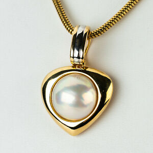 Pendant (14k gold) with a mabe pearl