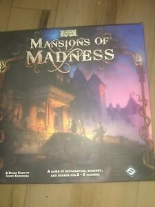 Fantasy Flight Games Mansions Of Madness 1st Edition (2010) - COMPLETE opened