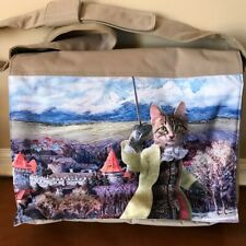 Computer Messenger Bag Extra Large Tabby Cat Novelty Graphic Cotton Baba Studio