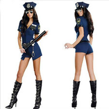 Sexy Women Police Uniform Cosplay Costume Cop Outfit Halloween Suits Oktoberfest