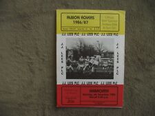 1986-87  (Dec) Albion Rovers v Arbroath   - Scottish Cup Round One