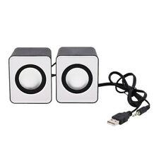 Mini 2.0 Computer Speaker USB Power 3.5mm Jack For MP3 Phone PC Laptop Tablet US