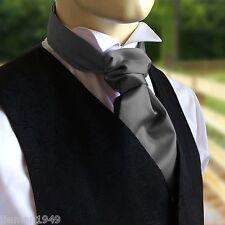 Self Tie Ruche Cravat Italian Satin Wedding Groom - to be worn with a waistcoat