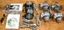 Lot Of 4 FujiFilm 2800 Zoom Working Digital Cameras With Accessories