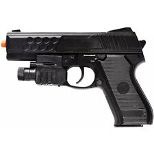 AIRSOFT SPRING PISTOL TACTICAL LASER SIGHT LED FLASHLIGHT HAND GUN w/ 6mm BBs BB