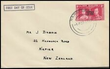 COOK ISLANDS KGVI 1937 CORONATION ILLUSTRATED FDC (ID:147/D35966)