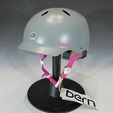 Bern Lenox Womens Certified Ski Bike Skate Helmet (Graphite Grey / Pink, M-L)