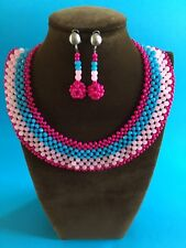 Egyptian style collar necklace  with multi coloured beads.