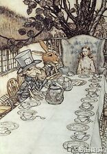 Alice In Wonderland Mad Hatters Tea Party Arthur Rackham Art Print Poster A4