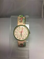 RARE FLIK FLAK FEE ENCHANTED RESTYLED WATCH CRYSTAL PINK FSN013-1